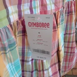 Gymboree Shirts & Tops - Gymboree girls Plaid NEW Spring Tank Top sz 6